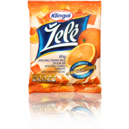 Želė apelsinų 80g Klingai